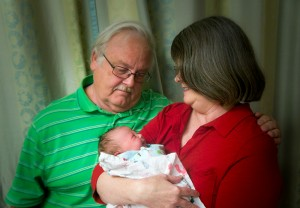 With a newborn Bethany